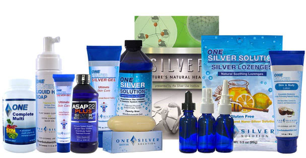 An assortment of products from Silver Solution USA